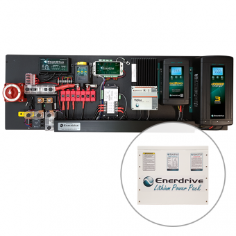 Enerdrive Pro Series 60A Off-Grid 300Ah Lithium Battery Kit - Root Catalog