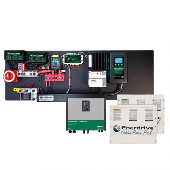 Enerdrive Pro Series Full Off-Grid 600Ah Lithium Battery Kit, With 3000W Inverter / Charger - Batteries & Power Systems