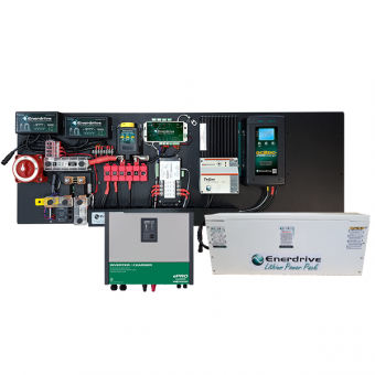 Enerdrive Pro Series 45A TS, 40A DCDC inc SIMARINE + 400Ah 12V Slimline Lithium Battery & ePRO Inverter / Charger 3000W - Battery Chargers