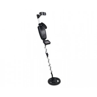 DZ Black & Silver Metal Detector with LCD Screen & Headphones - Sports & Leisure