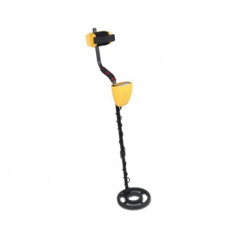 DZ Yellow Metal Detector with LCD Screen & Headphones - Sports & Leisure