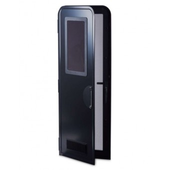 Milenco Columbia Caravan Door H1750 mm LH black/black  - Caravan Doors
