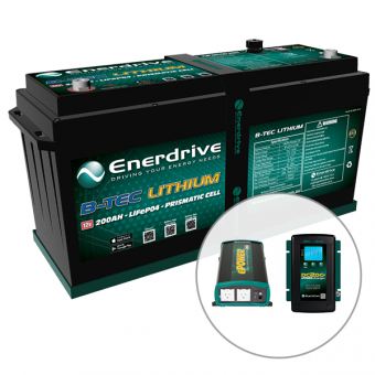 Enerdrive 200Ah Off-Grid 4x4 Bundle - Enerdrive Battery and Electrical Promotions