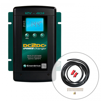 Enerdrive 40A DC to DC Battery Charger with Midi Fuse Installation Kit - DC to DC Battery Chargers