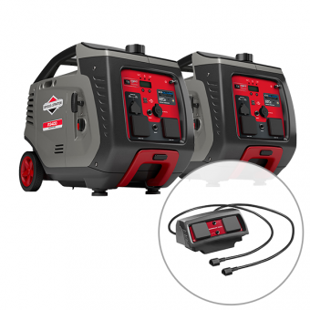 2 x Briggs & Stratton 3400w Inverter Generator with Parallel Kit (Combined 5100 Watts) - Root Catalog