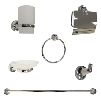 NCE 6-Piece Bathroom Accessory Kit - Caravan Shower & Bathroom