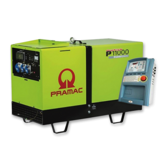 Pramac 10.8kVA Silenced Auto Start Diesel Generator - Stationary Generators