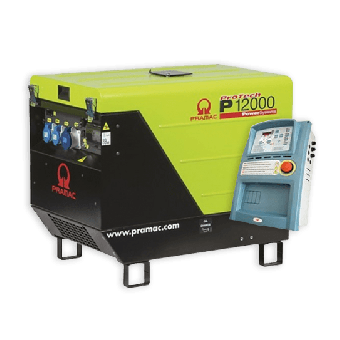 Pramac 11.9kVA Petrol Auto Start Silenced Generator + AMF - Petrol Auto Start Generators For Mains Failure