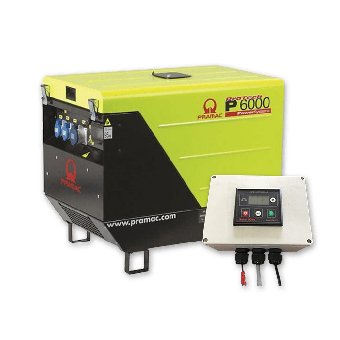 Pramac 5.9kVA AVR Silenced Auto Start Diesel Generator + 2 Wire Controller - Auto Start Generators For Off Grid Solar