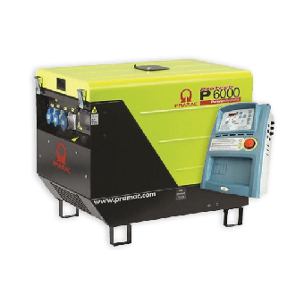 Pramac 6kVA AVR Silenced Auto Start Diesel Generator + AMF - Auto Start Generators For Mains Failure