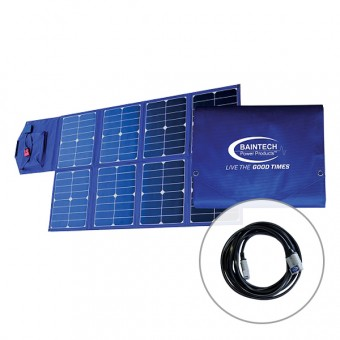 Baintech 120w Folding Solar Blanket & 5m Anderson Cable - Boating & Marine SALE