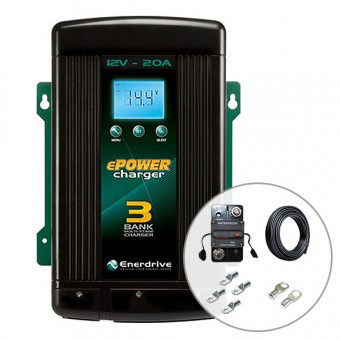Enerdrive 20A AC to DC Battery Charger with Installation Kit - SALE