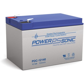 Power-Sonic 12V 13.9Ah AGM Deep Cycle Battery - AGM Deep Cycle Batteries
