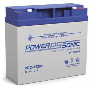 Power-Sonic 12V 21Ah AGM Deep Cycle Battery - AGM Deep Cycle Batteries