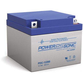 Power-Sonic 12V 28Ah AGM Deep Cycle Battery - AGM Deep Cycle Batteries