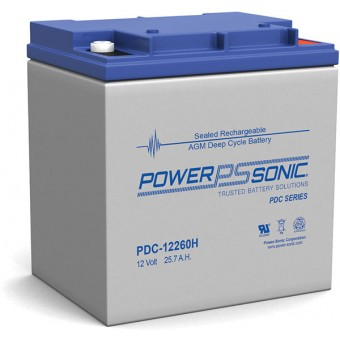 Power-Sonic 12V 26Ah AGM Deep Cycle Battery - AGM Deep Cycle Batteries