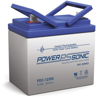 Power-Sonic 12V 35.4Ah AGM Deep Cycle Battery - AGM Deep Cycle Batteries