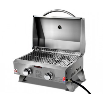 Grillz Portable 2 Burner Gas BBQ - Camping BBQs