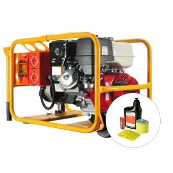 Powerlite Honda 6kVA Generator Worksite Approved - Worksite Approved Petrol Generators