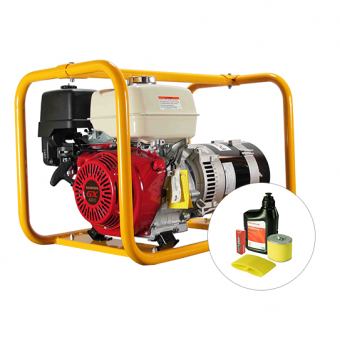 Powerlite Honda 8kVA Generator - Portable Petrol Trade Generators - Best Seller
