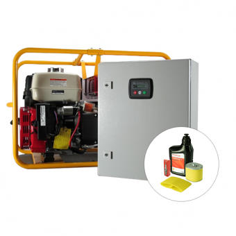 Powerlite Honda 8kVA Auto Start Generator + AMF - Petrol Auto Start Generators For Mains Failure