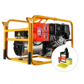 Powerlite Honda 8kVA Generator Worksite Approved - Portable Petrol Trade Generators - Best Seller