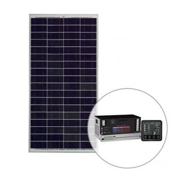 Projecta PM300 RV Power Management System & 160W Polycrystalline Fixed Solar Panel Pack - Solar Panel Bundles