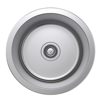 NCE One Piece Round Stainless Steel Sink - Caravan Sinks