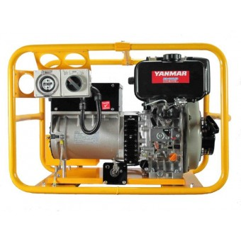 Powerlite Diesel 5kVA Electric Start, powered by Yanmar, 2 year warranty - Conventional Diesel Generators