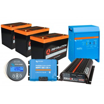 Revolution Power Ultimate High Draw 300Ah Lithium Battery Solution with Victron 3000W Inverter - Root Catalog