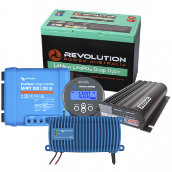 Revolution Power Entry Level 100Ah Low Draw Lithium Battery Solution with DC-DC - Root Catalog