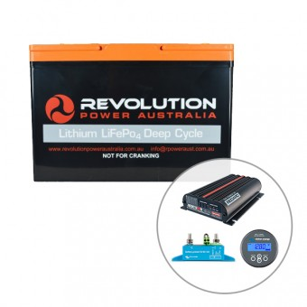 Revolution 100Ah Lithium Battery 4x4 Charging Solution, 50 Amp - Root Catalog