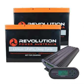 Revolution 200Ah Lithium and Redarc Manager 30 Caravan Charging Solution - Root Catalog