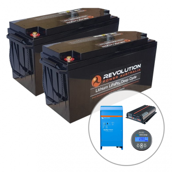 Revolution 400Ah Lithium Battery Caravan Charging Solution with 2000W Victron Inverter - Root Catalog