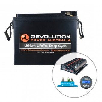Revolution 60Ah Slim Line Lithium Battery Pro in Vehicle Charging Solution, 50 Amp - Root Catalog