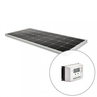 Dometic RTS160 160W Fixed Solar Panel and 30A Solar Charge Controller Kit - Solar Panel Bundles