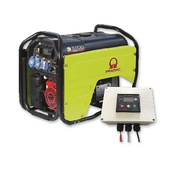 Pramac 5.3kVA Petrol Auto Start Generator + 2 Wire Controller - Generators & Power