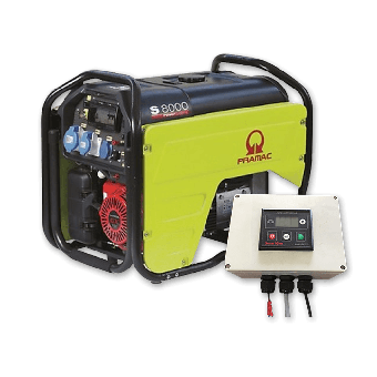 Pramac 7.2kVA Petrol Auto Start Generator + 2 Wire Controller - Solar Off Grid Appliances - Best Seller