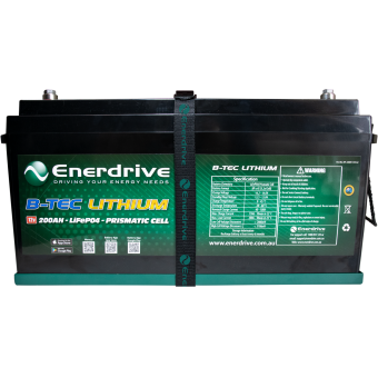 Enerdrive ePOWER B-TEC 200Ah Lithium Battery Only - Batteries & Power Systems