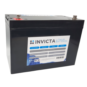 Invicta 12V 100Ah Lithium Battery with 4 Series Functionality - Root Catalog