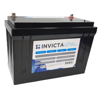 Invicta 12V 125Ah Lithium Battery with 4 Series Functionality - Root Catalog