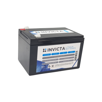 Invicta 12V 12Ah Lithium Battery with 4 Series Functionality - Root Catalog