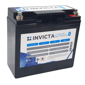 Invicta 12V 20Ah Lithium Battery with Bluetooth - Root Catalog