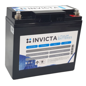 Invicta 12V 20Ah Lithium Battery with 4 Series Functionality - Root Catalog