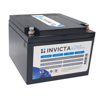 Invicta 12V 24Ah Lithium Battery with 4 Series Functionality - Root Catalog