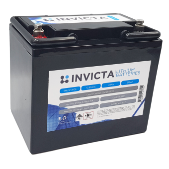 Invicta 12V 40Ah Lithium Battery with 4 Series Functionality - Root Catalog