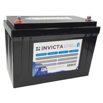 Invicta 24V 50Ah Lithium Battery with Bluetooth - Lithium Batteries