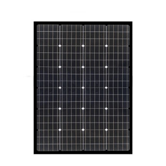 Enerdrive 150W Squat Mono Crystalline Fixed Solar Panel, Black - Camping Solar Panels & Accessories