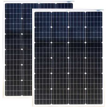 Enerdrive 2 x 150W Squat Fixed Solar Panel, Twin Pack - Camping Solar Panels & Accessories