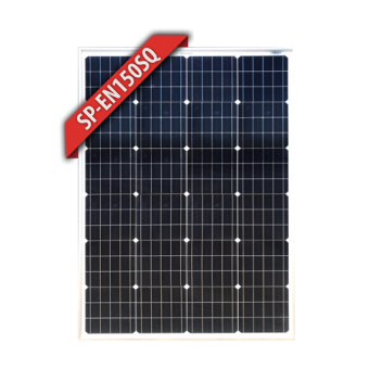 Enerdrive 150W Squat Mono Crystalline Fixed Solar Panel  - Camping Solar Panels & Accessories